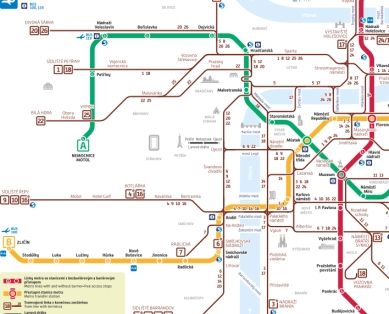 Prague underground map