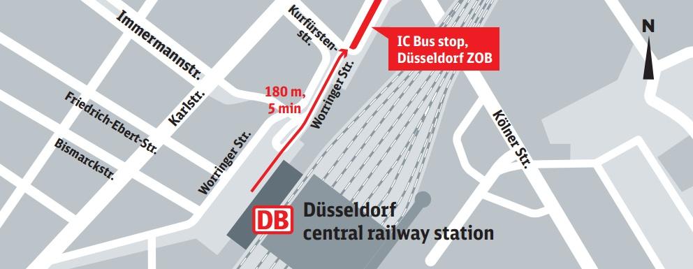 bus stop d sseldorf hbf d sseldorf main railway station. Black Bedroom Furniture Sets. Home Design Ideas