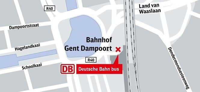Bus stop Ghent Dampoort Ghent Busstop De Lijn Dampoort