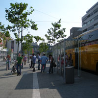 SA bus stop Düsseldorf 2