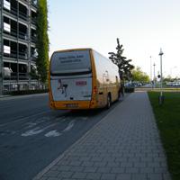 SA bus stop Nuremberg Airport 3