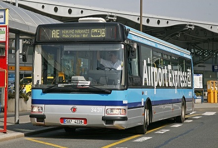 Airport Express Bus From Prague Airport To Hlavni Nadrazi