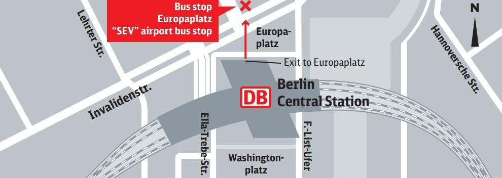 bus stop berlin hbf europaplatz sev berlin main train station. Black Bedroom Furniture Sets. Home Design Ideas