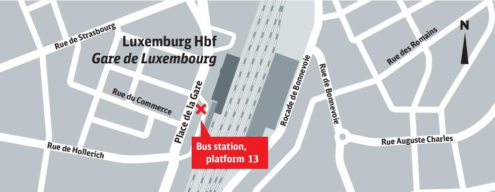 Arr 234 T De Bus Luxembourg Gare Routi 232 Re Principale De