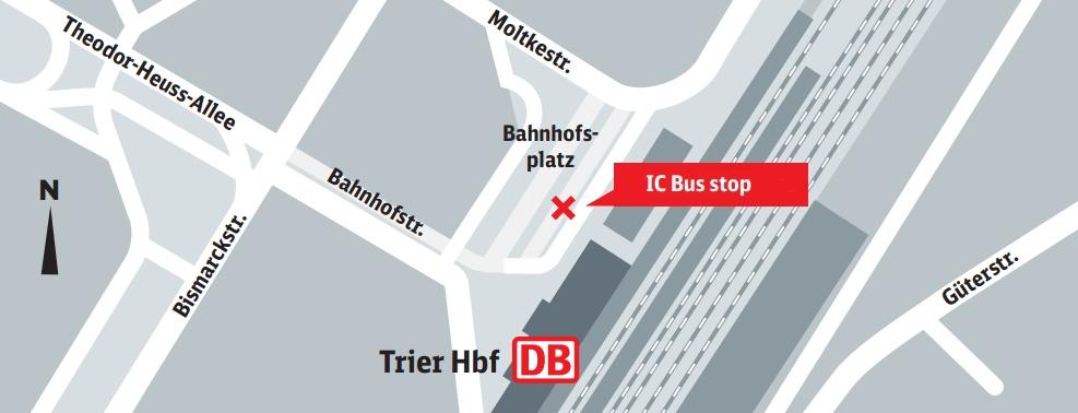 Bus stop Trier Hbf Bussteig 1 Trier Central platform 1