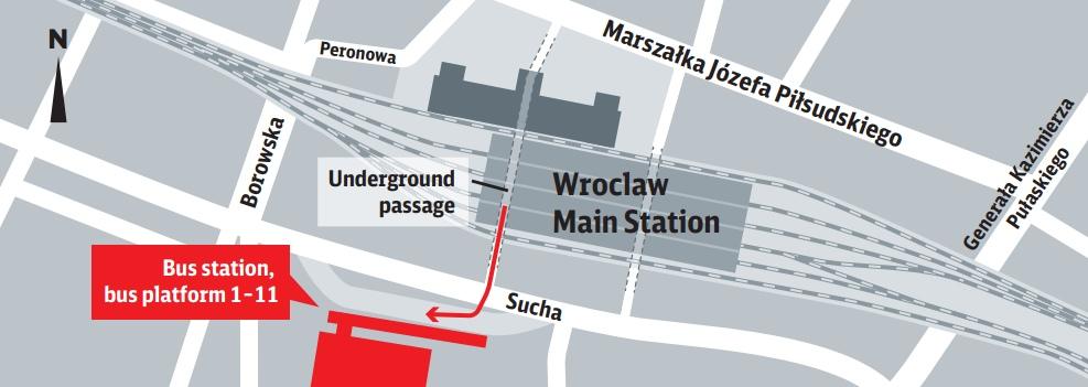 Bus stop  Dworzec Wrocław Główny - Wrocław main bus terminal 8a4a27ae35e9b