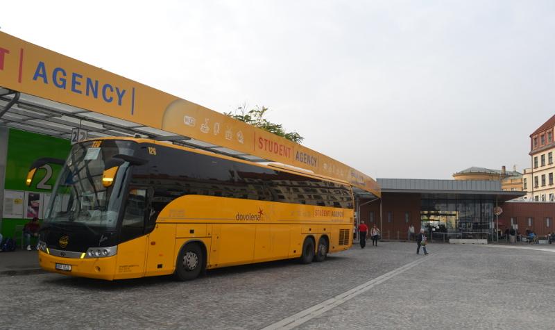Bus Stop Uan Florenc Praha Prague Main Bus Terminal Florenc