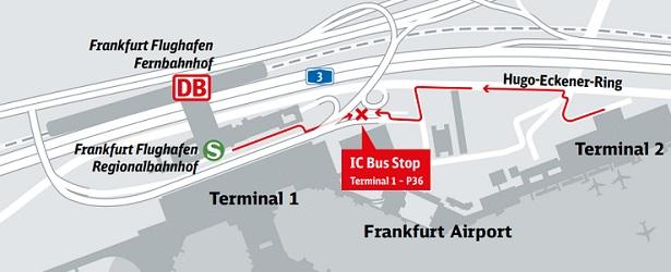 Bus Stop Frankfurt M Flughafen Terminal 2 Frankfurt Airport Terminal 2 Bus Station