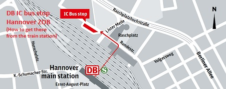 bus stop hannover zob hannover main bus terminal. Black Bedroom Furniture Sets. Home Design Ideas