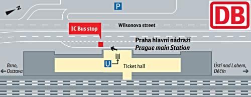 Bus stop Praha hl n Wilsonova str Prague main railway station