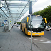 bus stop n rnberg flughafen nuremberg international airport. Black Bedroom Furniture Sets. Home Design Ideas