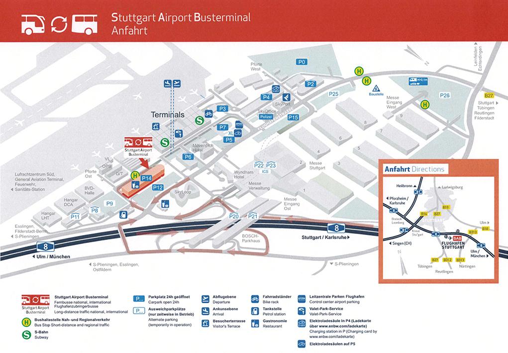 mapa nemacke stuttgart Bus stop: Stuttgart Airport (Stuttgart   Airport Busterminal SAB  mapa nemacke stuttgart