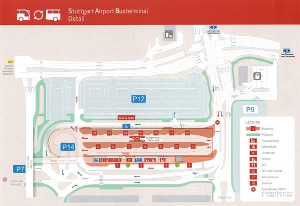 Bus stop Stuttgart Airport Stuttgart Airport Busterminal SAB