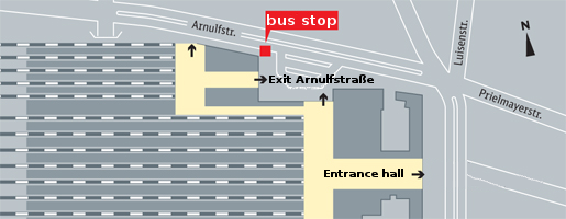 Bus stop Mnchen Hbf Arnulfstrae Munich main railway station